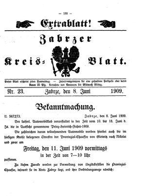 Zabrzer Kreis-Blatt vom 08.06.1909