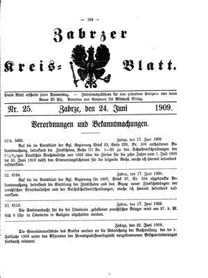 Zabrzer Kreis-Blatt vom 24.06.1909