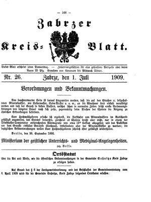 Zabrzer Kreis-Blatt on Jul 1, 1909