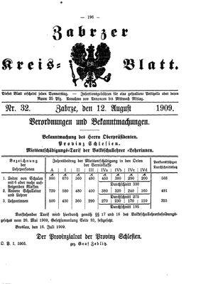 Zabrzer Kreis-Blatt vom 12.08.1909