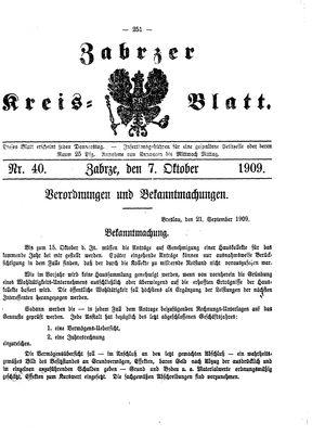 Zabrzer Kreis-Blatt vom 07.10.1909