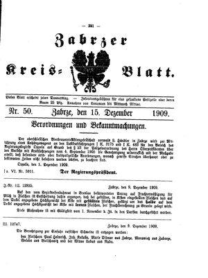 Zabrzer Kreis-Blatt vom 15.12.1909