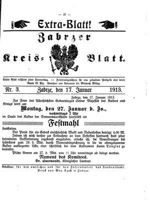 Zabrzer Kreis-Blatt vom 17.01.1913