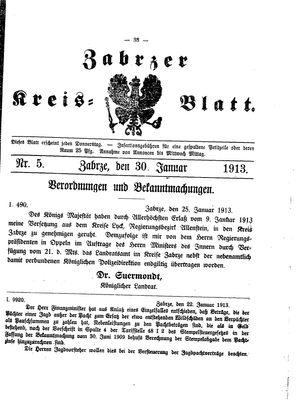 Zabrzer Kreis-Blatt vom 30.01.1913