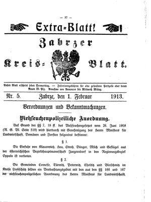 Zabrzer Kreis-Blatt vom 01.02.1913