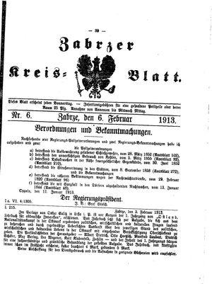 Zabrzer Kreis-Blatt vom 06.02.1913