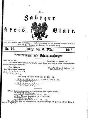 Zabrzer Kreis-Blatt vom 06.03.1913