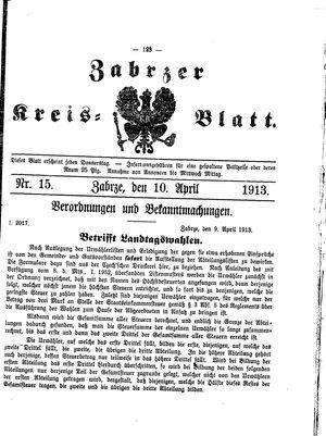 Zabrzer Kreis-Blatt vom 10.04.1913