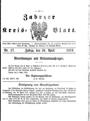 Zabrzer Kreis-Blatt vom 24.04.1913