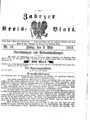 Zabrzer Kreis-Blatt vom 02.05.1913