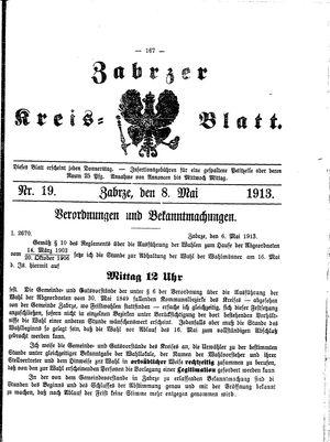 Zabrzer Kreis-Blatt vom 08.05.1913