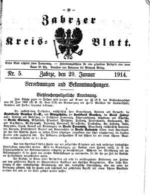 Zabrzer Kreis-Blatt on Jan 29, 1914