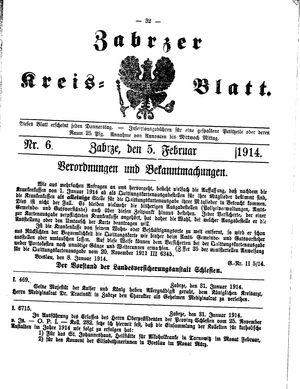 Zabrzer Kreis-Blatt vom 05.02.1914