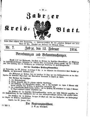 Zabrzer Kreis-Blatt vom 12.02.1914