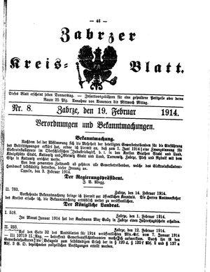 Zabrzer Kreis-Blatt vom 19.02.1914