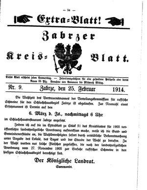 Zabrzer Kreis-Blatt vom 25.02.1914