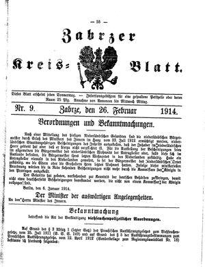 Zabrzer Kreis-Blatt vom 26.02.1914