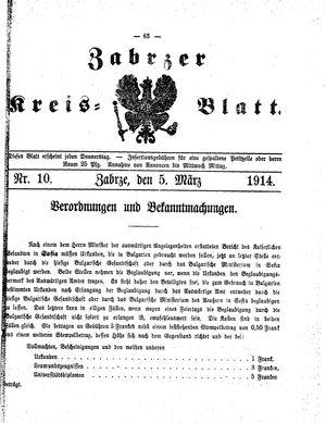 Zabrzer Kreis-Blatt vom 05.03.1914