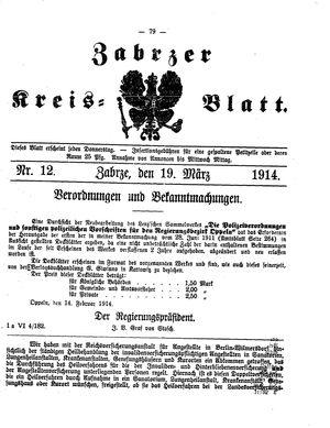 Zabrzer Kreis-Blatt vom 19.03.1914
