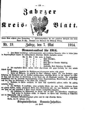Zabrzer Kreis-Blatt vom 07.05.1914