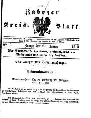 Zabrzer Kreis-Blatt vom 21.01.1915