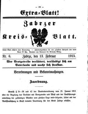 Zabrzer Kreis-Blatt vom 13.02.1915