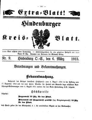 Zabrzer (Hindenburger) Kreisblatt vom 06.03.1915