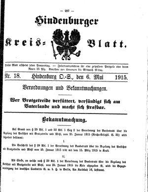 Zabrzer (Hindenburger) Kreisblatt vom 06.05.1915