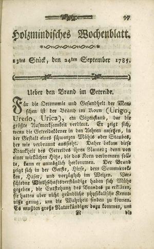 Holzmindisches Wochenblatt vom 24.09.1785