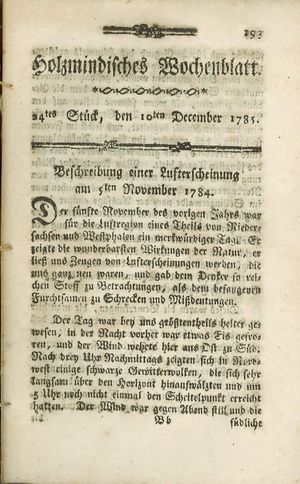 Holzmindisches Wochenblatt vom 10.12.1785