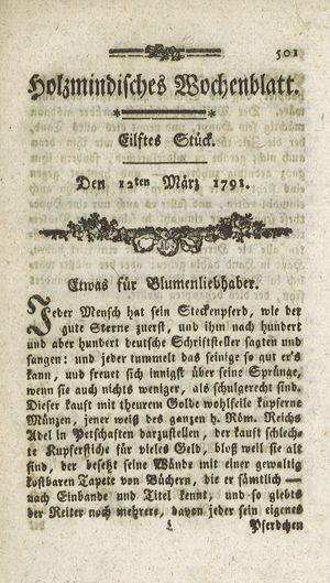 Holzmindisches Wochenblatt vom 12.03.1791