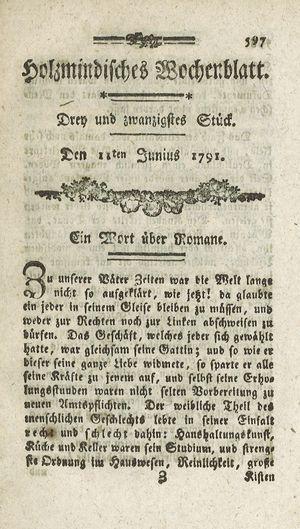 Holzmindisches Wochenblatt vom 04.06.1791
