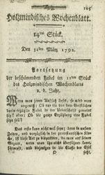Holzmindisches Wochenblatt