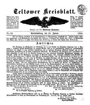 Teltower Kreisblatt on Jan 23, 1858