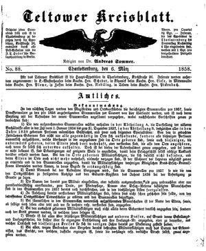 Teltower Kreisblatt vom 06.03.1858