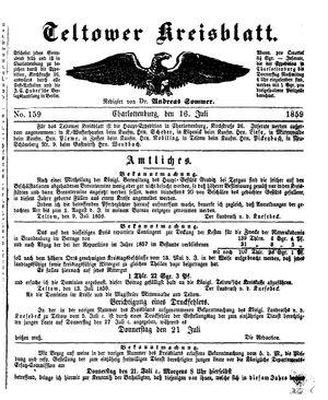Teltower Kreisblatt vom 16.07.1859