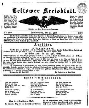 Teltower Kreisblatt on Jul 23, 1859