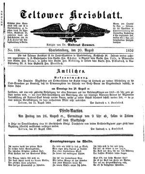 Teltower Kreisblatt vom 20.08.1859