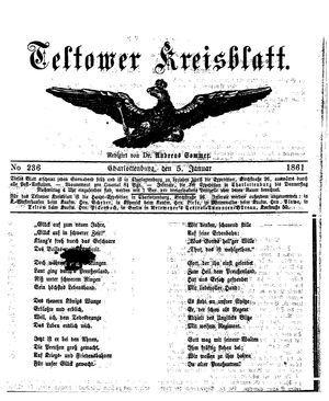 Teltower Kreisblatt vom 05.01.1861