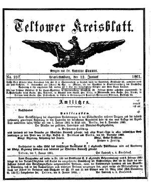 Teltower Kreisblatt vom 12.01.1861