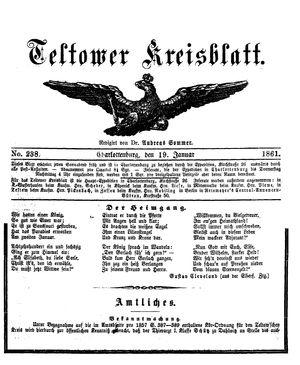 Teltower Kreisblatt on Jan 19, 1861