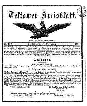 Teltower Kreisblatt on Jan 26, 1861