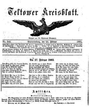 Teltower Kreisblatt on Feb 23, 1861
