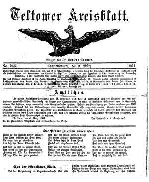Teltower Kreisblatt vom 09.03.1861