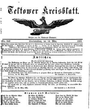 Teltower Kreisblatt vom 16.03.1861