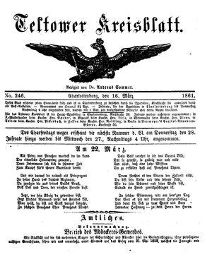 Teltower Kreisblatt vom 23.03.1861