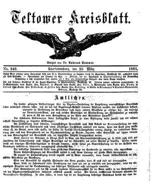 Teltower Kreisblatt vom 30.03.1861