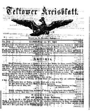 Teltower Kreisblatt vom 27.04.1861