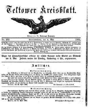 Teltower Kreisblatt vom 04.05.1861