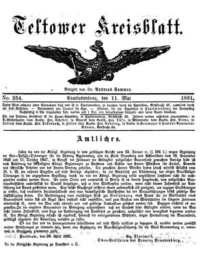 Teltower Kreisblatt vom 11.05.1861